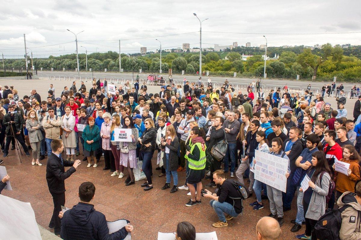 Поддержать акцию за честные выборы пришли около 500 нижегородцев - фото 1