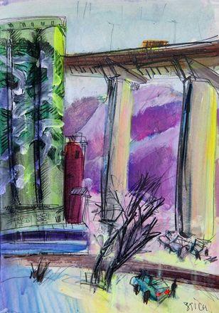 Элеватор на Черниговской появился на картинах дзержинского художника - фото 3