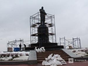 Реставрация памятника Чкалову началась на площади Минина и Пожарского