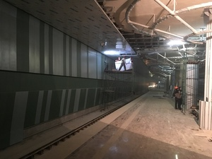 Станция метро «Стрелка» в Нижнем Новгороде готова на 94%