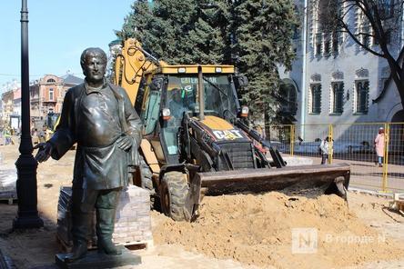 Скульптуры с Большой Покровской уберут на время работ по благоустройству