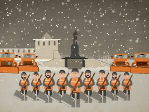 Инструкция по уборке снега в Нижнем Новгороде (Инфографика)